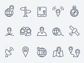 image of outline  - Location icons - JPG
