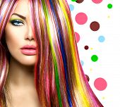 picture of hair dye  - Colorful Hair and Makeup - JPG