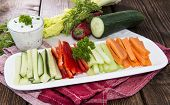 picture of crudites  - Crudites stripes  - JPG