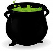 pic of witches cauldron  - cauldron illustration to use in halloween decorations - JPG