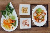 picture of thai cuisine  - green papaya salad thai food Thai cuisine  - JPG