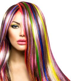 image of hair dye  - Colorful Hair and Makeup - JPG