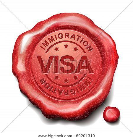 Visa Red Wax Seal
