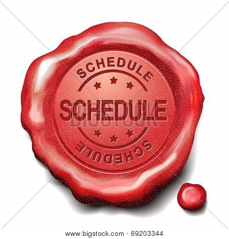 Schedule Red Wax Seal