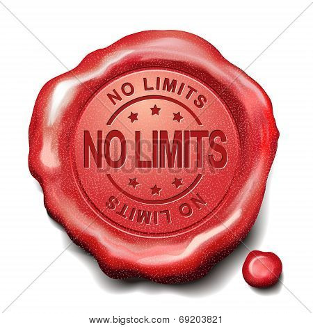 No Limits Red Wax Seal