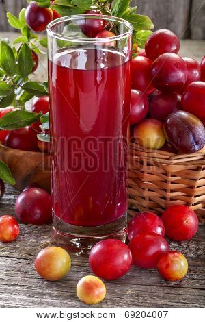 sloes and plums juice