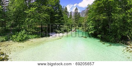 Sava Bohinjka River In Julian Alps, Slovenia