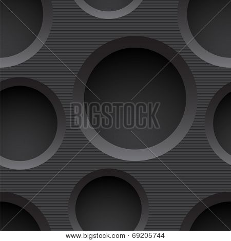 Seamless plastic background with holes