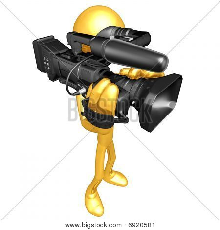 Gold Guy Cameraman
