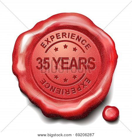 35 Years Red Wax Seal