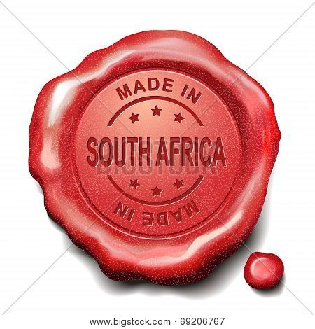 Made In South Africa Red Wax Seal