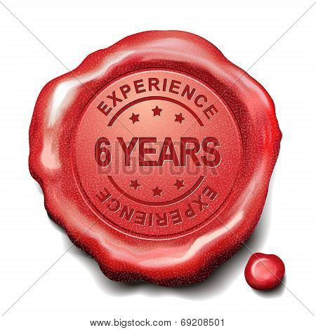 6 Years Red Wax Seal