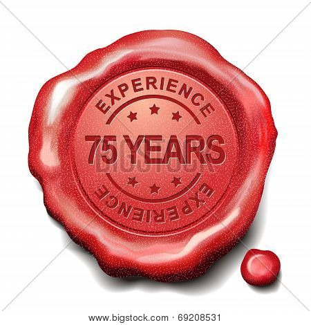 75 Years Red Wax Seal