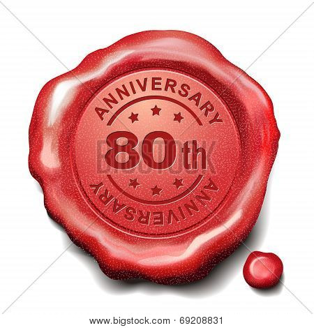 80Th Anniversary Red Wax Seal