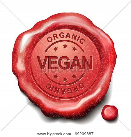 Vegan Red Wax Seal