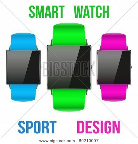 Smart Design Example Sport Wrist Watch.