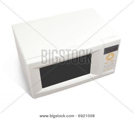Microwave Oven Over White