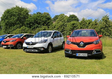 New Renault Captur And Scenic Xmod Cars On Display