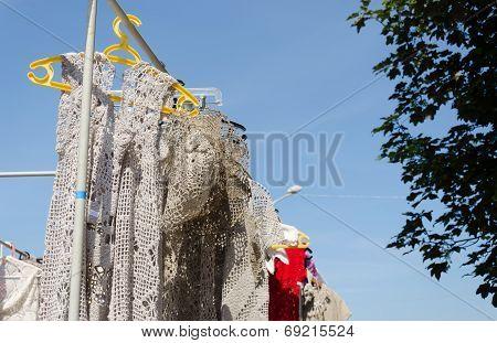 Crocheted Linen Ladies Blouses Hang In Fair