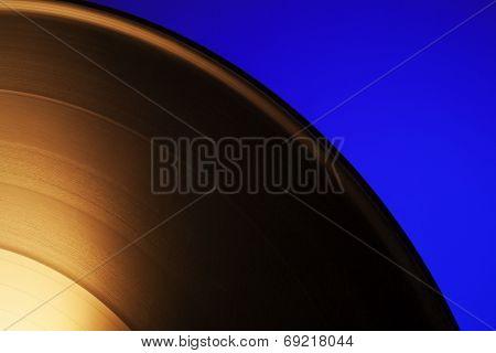 Quarter View Of Vinyl Record