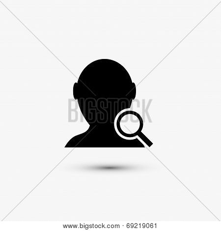 Vector black web icon on white background. Eps10