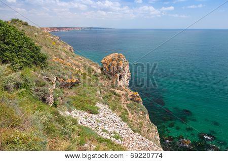 Rocky Coast Of Kaliakra Headland, Bulgaria, Black Sea Coast