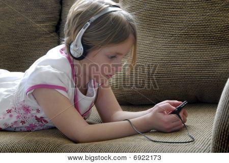 Listening To Music On Earphones