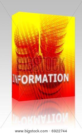 Information Data Storage Box Package