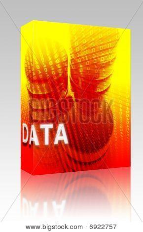 Data Storage Illustration Box Package