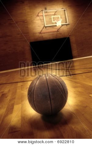 Basketball And Basketball Court