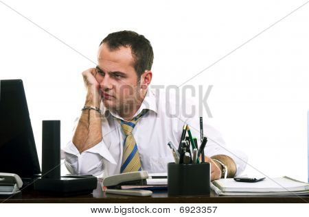 stressed & frustrated businessman