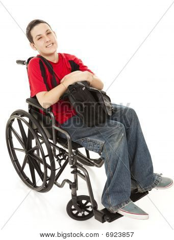 Disabled Teen Boy Full Body