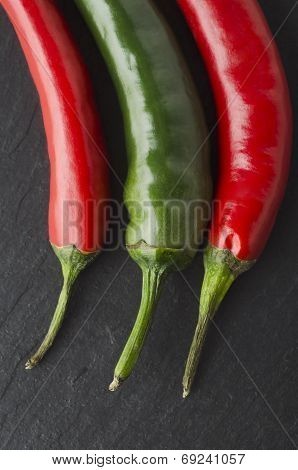 Red And Greem Chili Peppers