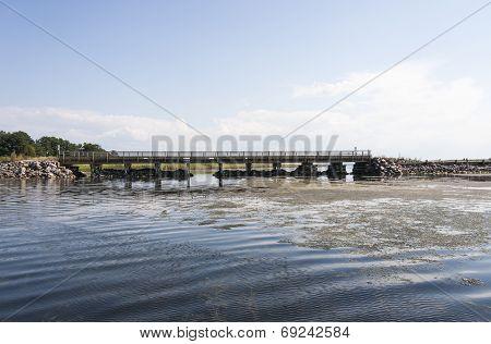Wood Bridge Over The Water