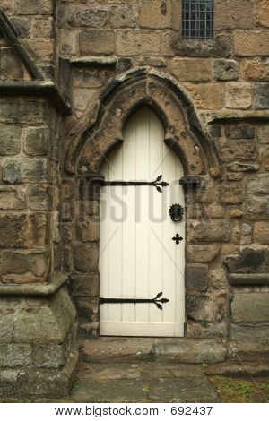 White church door