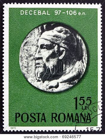 Postage Stamp Romania 1975 Governor Decibalus