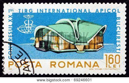 Postage Stamp Romania 1965 Exhibition Hall, Apimondia