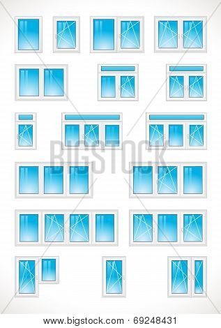 Plastic-windows-vector