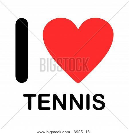 Font Type Illustration - I Love Tennis