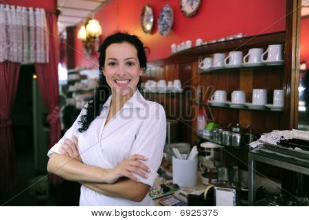 Proud And Confident Owner Of A Cafe/ Pastry Shop