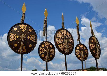 Shields as street decoration