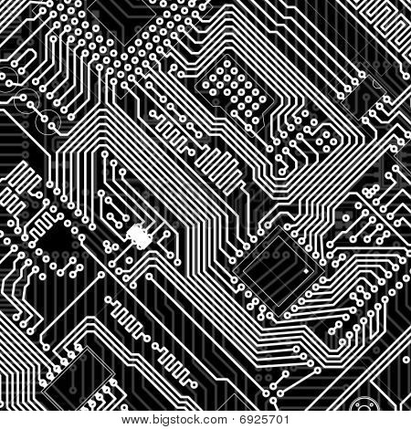 Circuit Board Industrial Electronic Monochrome Background
