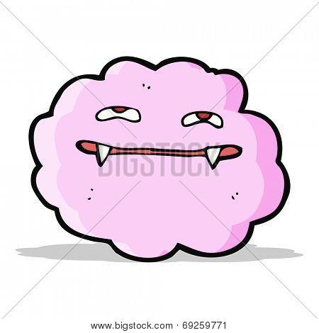 cartoon pink fluffy vampire cloud