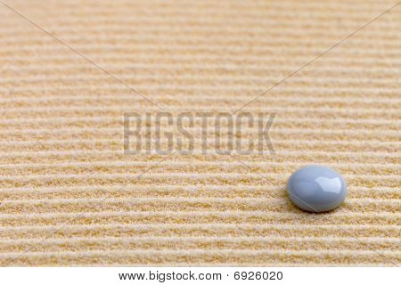 Art Background - Yellow Sand And Stone