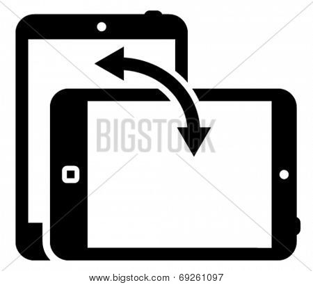 Tablet screen orientation icon