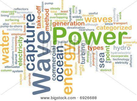 Conceito de fundo de potência de onda