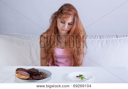 Dieting Girl In Her Room