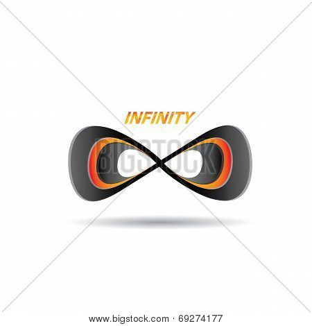vector Limitless symbol icon on white background