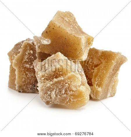Beeswax heap isolated on a white background