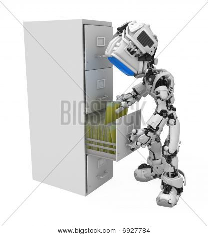 Blue Screen Robot, Filing Cabinet